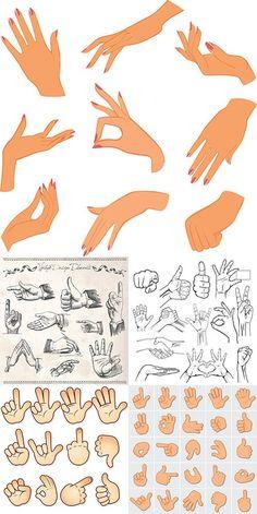 Векторный клипарт - Руки