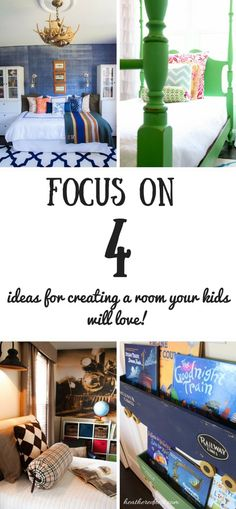 Kids Room Decor - Less is Usually More. Focus on FOUR.