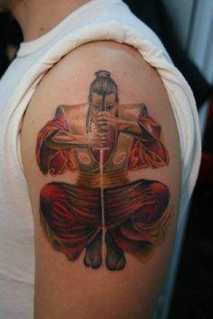 Tattoo kniehender Samurai   #Tattoo, #Tattooed, #Tattoos