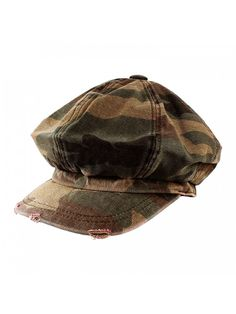 7bbd54019b5 Men s Women s Unisex Cotton Packable Camouflage Newsboy Cap Gatsby Hat -  Woodland - CA11LHPI4B1