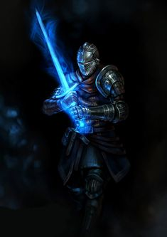m Fighter hilvl Plate Armor Helm Magic Sword Underdark traveler Elite knight by DongJun Seo ArtStation lg Fantasy Armor, Dark Fantasy Art, Medieval Fantasy, Dark Art, Medieval Knight, Arte Dark Souls, Dark Souls 2, Demon's Souls, Armor Concept
