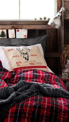 plaid flannel, rustic details