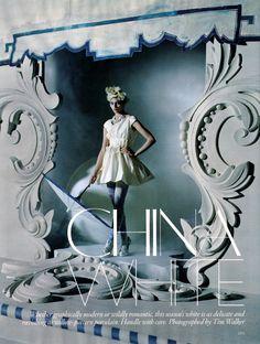 China White : Sasha Pivovarova by Tim Walker for Vogue UK March 2010