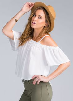 Seriously though... You're not doing the whole boho thing right unless you've got this chic top on. #JustSayin.