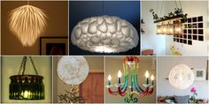 16 Genius DIY Lamps and Chandeliers To Brighten Up Your Home via @vanessacrafting