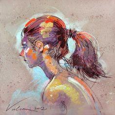 FABIENNE 8 - © 2012 Raluca Vulcan -  Painting Online Artworks