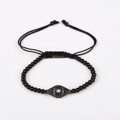 Sliding Knot, Evil Eye Bracelet, Women's Jewelry, Sale Items, Jewelry Collection, Plating, Pouch, Eyes, Diamond