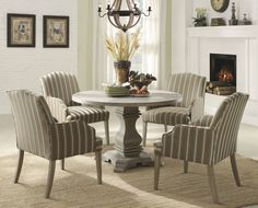 Home Elegance Euro Casual Collection Round Dining Table 2516-48