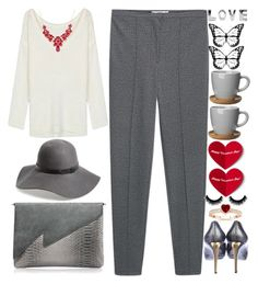"""""""Love"""" by grozdana-v ❤ liked on Polyvore featuring MANGO, Louis Vuitton, Hinge, Höganäs Ceramic, women's clothing, women, female, woman, misses and juniors"""