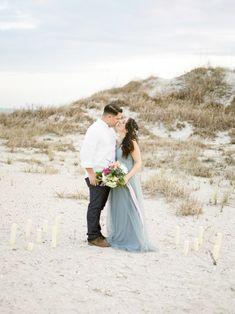 Serenity Blue Styled Engagement I Melissa Blythe Photography