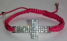 Strass Crystal Cross Bracelet. Rosary Bracelet, Rosary Beads, Beaded Bracelets, Our Lady Of Lourdes, Crystal Cross, One Decade, Religious Gifts, Crucifix, Statue