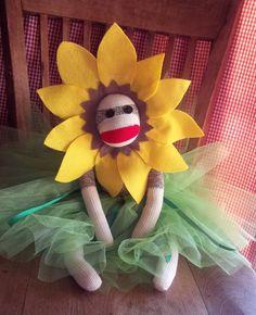 Sock Monkey Doll, Sunflower Priness Ballerina