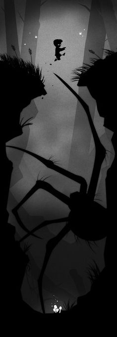 This is more of a graphic design, but hey. From a game called LIMBO. https://itunes.apple.com/us/app/limbo-game/id656951157?mt=8at=10laCC