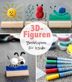 Lustige 3D-Figuren // Einfacher Bastelspass für Gross und Klein:  http://www.marein.ch/basteln/5379/lustige-3d-figuren/