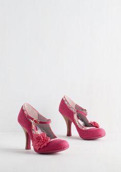 Dapper Dance Heel in Magenta From The Plus Size Fashion Community On www.VintageAndCurvy.com