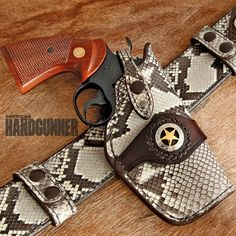 Web Blast Extra: Barbecue Tonight | Haugen Handgun Leather Rig for a Colt Python with python skin accents | Click here: http://americanhandgunner.com/web-blast-extra-barbecue-tonight/ | #concealedcarry #gunleather #colt