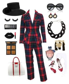 """B.A.B.  ""Right On Momma"" Bossed up !"" by worldoflorri on Polyvore featuring Pendleton, Pineider, Guerlain, Gucci, DIANA BROUSSARD, Chico's, Oscar de la Renta, Lime Crime, Lancôme and YOSUZI"