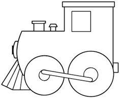 Mi colección de dibujos: Dibujos de trenes para pintar