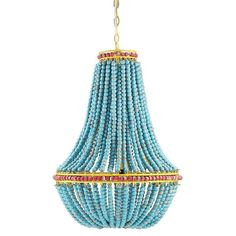 Lighting Connection Blue Beaded Chandelier | http://lightingconnection.com/collections/what-s-new/products/blue-beaded-chandelier