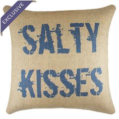 Burlap pillow with a typographic motif. Handmade in the USA.   Product: PillowConstruction Material: Burlap cover...