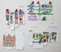 Here's a fantastic drawing craft that's also a recycling craft — drawing on the un-printed side (the inside) of small medicine and food packaging to create a cityscape of buildings. The results of my seven year old's efforts were so...