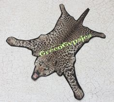 Miniature Leopard Skin Rug for Dollhouse One by GreenGypsies