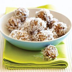 Martina's Energy Balls Recipe - Health Mobile Note for self- use almond milk instead of soy.