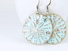 Beach Jewelry Sand Dollar Earrings Bohemian by OstaraMoonJewelry,