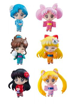 Sailor Moon Petit Chara Trading Figure 6-Pack Let's go to festival 6 cm ( Megahouse )