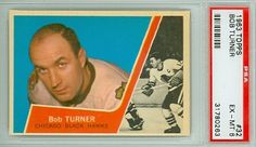 1963-64 Topps Hockey 32 Bob Turner Black Hawks PSA 6 Excellent Mint by Topps. $7.50. This vintage card featuring Bob Turner is # 32 from the 1963-64 Topps set