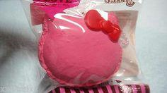 """$7.98   Hello Kitty MACAROON Squishy """"Raspberry -dark pink"""" Mascot GENUINE JAPAN"""
