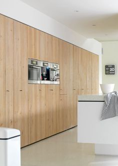Kitchen wall made from wood