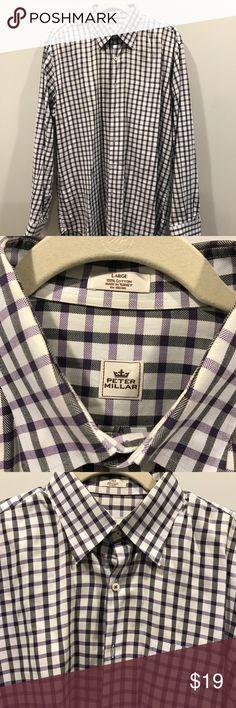 a99a991a9cb Peter Millar Dress Shirt This is a Peter Millar Dress shirt. Size  Large  Color