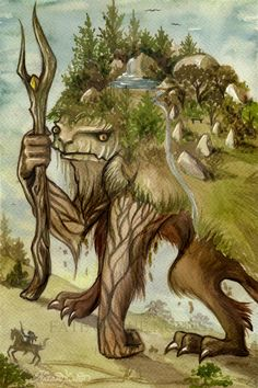 """Landvættir (""""land wights"""") are spirits of the land in Norse mythology and in Germanic paganism. They protect and promote the flourishing of the specific places where they live, which can be as small as a rock or a corner of a field, or as large as a section of a country.  (Landvaettir by UnripeHamadryad)"""