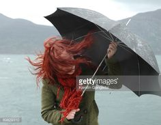 why do I like red hair blowing in the wind so much! Blowin' In The Wind, Wind And Rain, Christina Rossetti, Rain And Thunder, Rain Days, Usb Stick, Under My Umbrella, Red Umbrella, Love Rain
