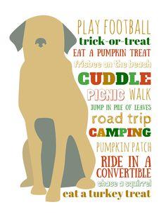 Free printable dog bucket list for fall #PinnacleHealthyPets