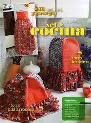 Resultado de imagen para forro para licuadora en tela Couture, Soft Furnishings, Gift Baskets, Ideas Para, Kitchen Decor, Apron, Sewing Patterns, Projects To Try, Lunch Box