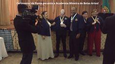 Posse Acadêmica - Academia Miniera de Belas Artes.