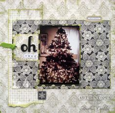 """Oh Tree!"" Layout made by Authentique Paper DT Member Heather Conklin"
