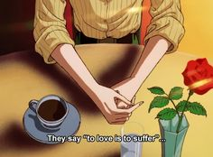 Discovered by ᴜᴛᴏᴘɪᴀ. Find images and videos about quotes, aesthetic and anime on We Heart It - the app to get lost in what you love. Old Anime, Manga Anime, Anime Art, Quote Aesthetic, Aesthetic Anime, Taeyong, St Just, Anime Gifs, Cartoon Quotes