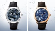 Watches Midnight Nuit Boréale and Midnight Nuit Australe, Cadrans Extraordinaire™ collection Image 3 - Van Cleef & Arpels
