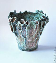 """Ceramic vessel / Вазы ручной работы. Ярмарка Мастеров - ручная работа. Купить Интерьерная ваза-скульптура  """"Болотный цветок"""". Handmade. Керамика"""