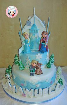 torta tema frozen #cakedesign #frozencake #birthdaycake