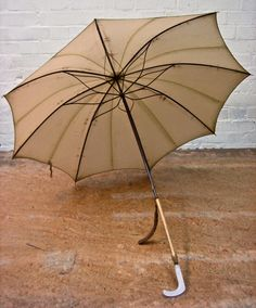 An early twentieth century umbrella. Almost makes you wish it would rain.