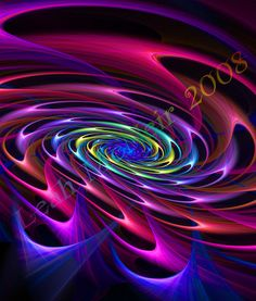 "Rainbow Dream Fractal | Fractal Art Prints: "" Spiral Spectrum "" | Celestial Dreams"