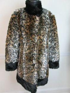Sirens Leopard Faux Fur Jacket Animal Print Coat #Sirens #BasicCoat