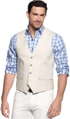 Tasso Elba Big and Tall Linen Vest