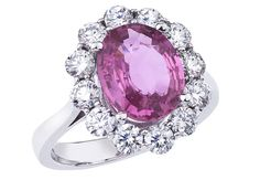 Pink Sapphire and Diamond Ring - Steven Royce Designs