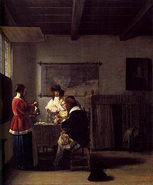 Pieter de Hooch, Het bezoek, ca. 1657