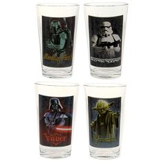 Star Wars 4-Piece Drinking Glasses Set